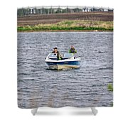 The Boater Shower Curtain