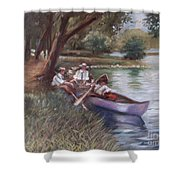 The Boating Men Shower Curtain