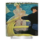 The Boating Party Shower Curtain