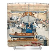 The Boatman Shower Curtain