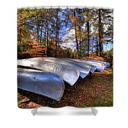 The Boats At Woodcraft Camp Shower Curtain