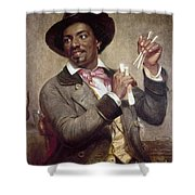 The Bone Player, 1856 Shower Curtain