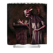 The Bone Priest Shower Curtain