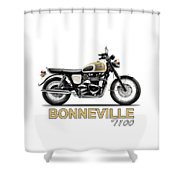 The Bonneville T100 Shower Curtain