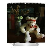 The Book Bear Shower Curtain