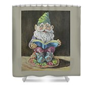 The Book Gnome Shower Curtain