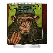The Book Of Chimps Shower Curtain