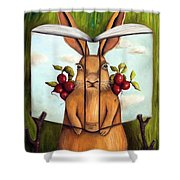 The Book Of Secrets 4-the Rabbit Story Shower Curtain