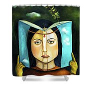 The Book Of Secrets Shower Curtain