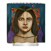 The Book Of Secrets With Paisley Shower Curtain