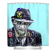 The Bookie Shower Curtain