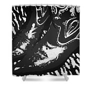 The Boots Black Shower Curtain