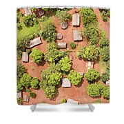 The Border Town Village Of Bangassou Shower Curtain