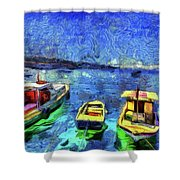 The Bosphorus Istanbul Art Shower Curtain