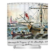 The Boston Tea Party, 1773 Shower Curtain