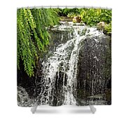 The Botanic Waterfall  Shower Curtain by Lori Frisch