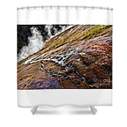 The Bottom Of Midway Geyser Basin Shower Curtain