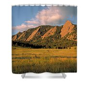 The Boulder Flatirons Shower Curtain