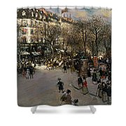 The Boulevard Des Italiens Shower Curtain