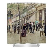 The Boulevard Montmartre And The Theatre Des Varietes Shower Curtain