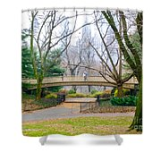 The Bow Bridge In Central Park New York City Shower Curtain