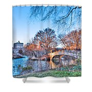 The Bow Bridge In Central Park Shower Curtain