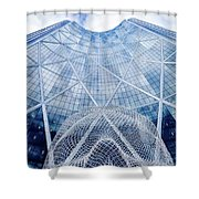 The Bow Building Shower Curtain