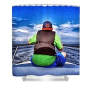 The Bow Rider Shower Curtain