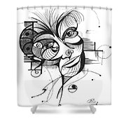 The Boxer Shower Curtain by Nicholas Burningham