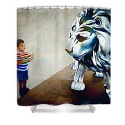 The Boy And The Lion 10 Shower Curtain