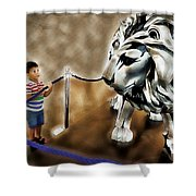 The Boy And The Lion 13 Shower Curtain