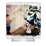 The Boy And The Lion 9 Shower Curtain