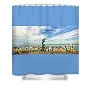 The Boy On The Seahorse Pano Shower Curtain