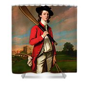 The Boy With A Bat - Walter Hawkesworth Fawkes Shower Curtain