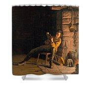 The Boyhood Of Lincoln Shower Curtain