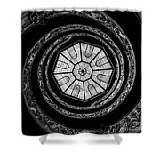 The Bramante Staircase Shower Curtain