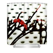 The Branches Naked By Wind And Rain. Shower Curtain