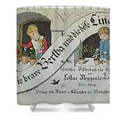 The Brave Bertha And Evil Lina Shower Curtain