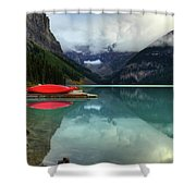 The Breathtakingly Beautiful Lake Louise Banff National Park Shower Curtain