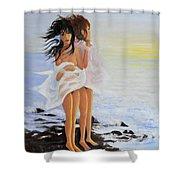The Breeze - La Brezza Shower Curtain