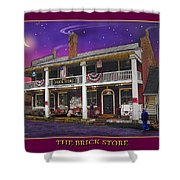 The Brick Store Shower Curtain
