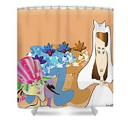 The Bridal Party Shower Curtain