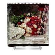 The Bride's Bouquet Shower Curtain