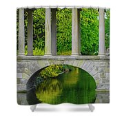 The Bridge Across The Pond Shower Curtain