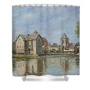 The Bridge And Mills Of Moret Sur Loing Shower Curtain
