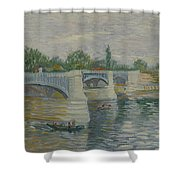 The Bridge At Courbevoie Paris, May - July 1887 Vincent Van Gogh 1853  1890 Shower Curtain