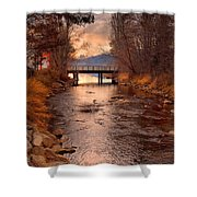 The Bridge By The Lake Shower Curtain
