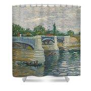 The Bridge Of Courbevoie, Paris Shower Curtain