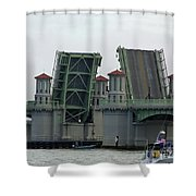 The Bridge Of Lions Open For Boats Shower Curtain