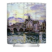 The Bridge Of Moret At Sunset Shower Curtain